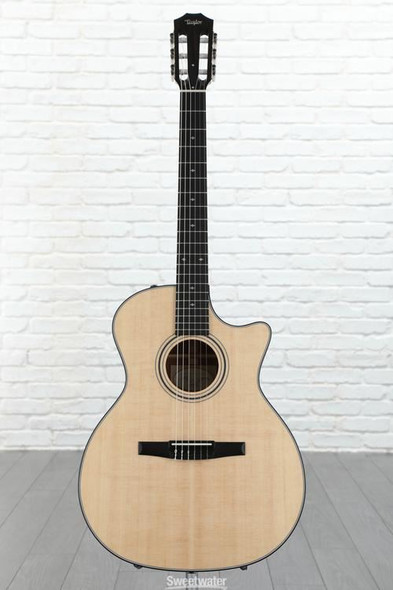 Taylor 314ce-N Grand Auditorium Nylon Cutaway Acoustic/Electric - Natural