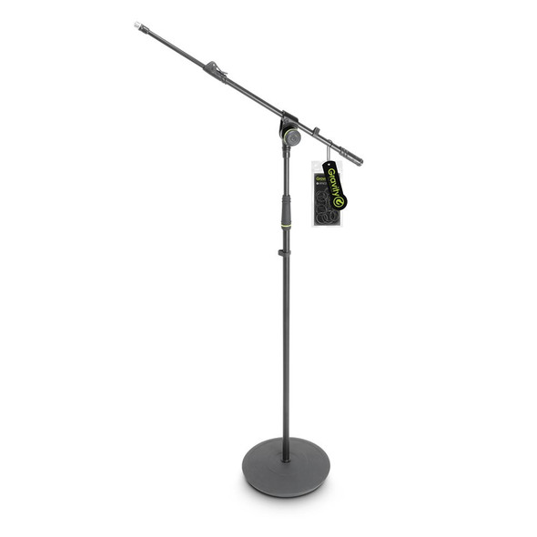 Gravity MS 2312 B - Microphone Stand with Round Base and 1-Point Adjustment Telescoping Boom