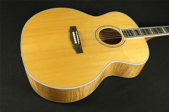 Guild USA F-50 LH Lefty with DTAR Jumbo Blonde with Case MADE IN NEW HARTFORD (005)