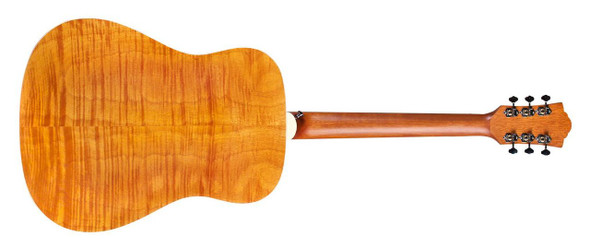 Guild D-240E Limited Dreadnought, Flamed Mahogany B/S, Natural