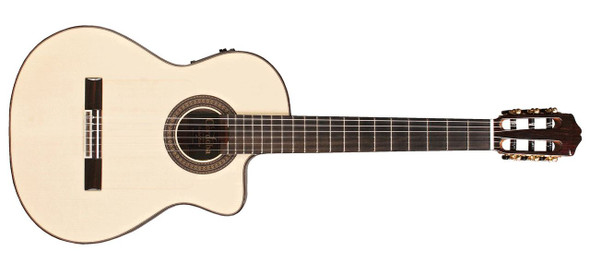 Cordoba Espana Series 55FCE Negra Macassar Ebony Electric Acoustic Nylon String Guitar