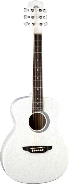 LUNA Aurora Borealis 3/4 Guitar White