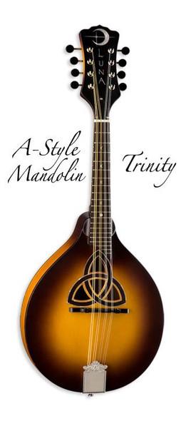 LUNA Trinity A-Style Mandolin w/ Celtic Inlay