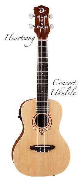 LUNA Uke Heartsong Spruce Concert w/USB Pre
