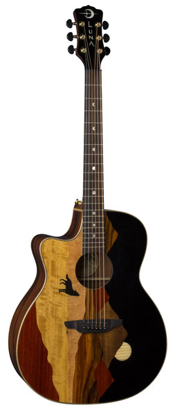 LUNA Vista Wolf Tropical Wood Lefty w/Case