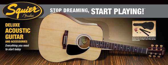Squier SA-55 Deluxe Acoustic Guitar Pack - Natural(Refurbished)