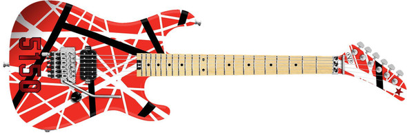 New 2017! EVH Striped Series 5150 Red, Black and White Stripes(Refurbished)