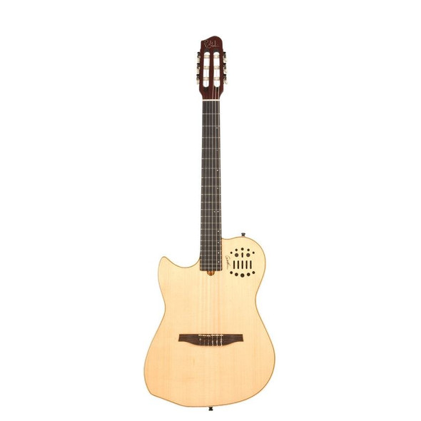 Godin MultiAc Nylon String LEFT-HANDED High-Gloss - Natural Includes VBGAC Gig Bag - 36073