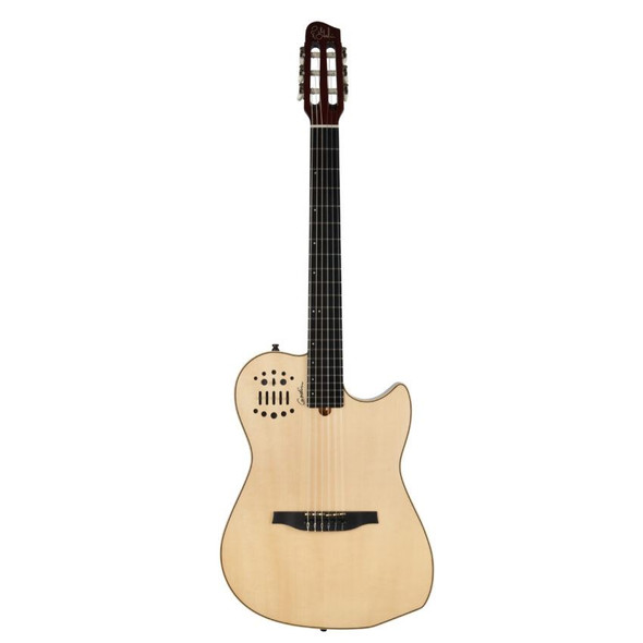 Godin MultiAc Nylon String Synth Access 2-Voice High-Gloss - Natural Includes VBGAC Gig Bag - 4690