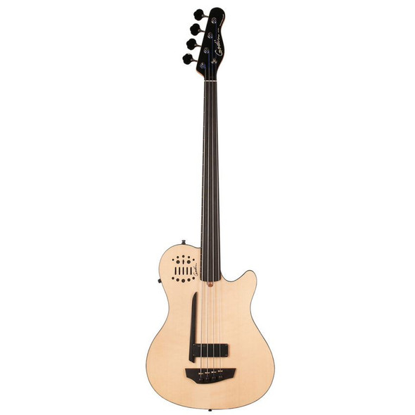 Godin A4 Ultra Natural SG Fretted Ebony Neck Synth Access Includes VBGAB Gig Bag - 33645