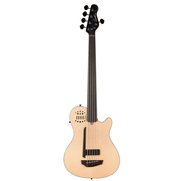 Godin A5 Ultra Natural SG Fretted Ebony Neck Synth Access Includes VBGAB Gig Bag - 33638