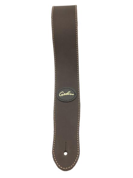 Godin Mat Brown Leather w/Contrast Stitching - 37254