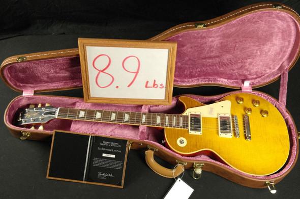 Gibson 2018 VOS 1958 Les Paul Standard Reissue - Honey Lemon Fade FLAME