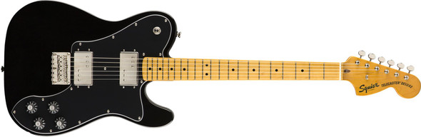 New 2019 Squier by Fender Classic Vibe 70s Telecaster Deluxe - Maple Fingerboard - Black