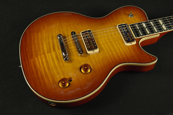 Godin Summit Classic Supreme Limited with Lollar GF - Cognac Burst Flame Includes VSC Deluxe Harshell Case - 42593 (180)