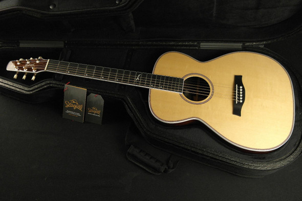 Seagull 047772 Artist Studio CH HG EQ 6 String RH Acoustic Electric Guitar w Tric Case 037