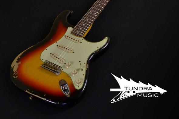 Fender Custom Shop Michael Landau Signature 1968 Relic Stratocaster - Round-Laminated Rosewood - Bleached 3-Color Sunburst