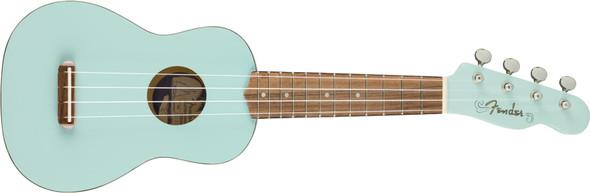 Fender Venice Soprano Uke - Walnut Fingerboard - Daphne Blue