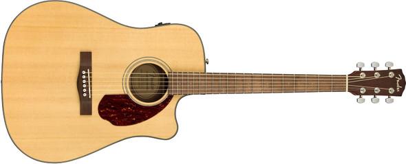 Fender CD-140SCE Dreadnought - Walnut Fingerboard - Natural w/case