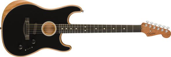 Fender American AcoustasonicStrat - Ebony Fingerboard - Black