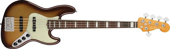 Fender American Ultra Jazz Bass V - Rosewood Fingerboard - Mocha Burst