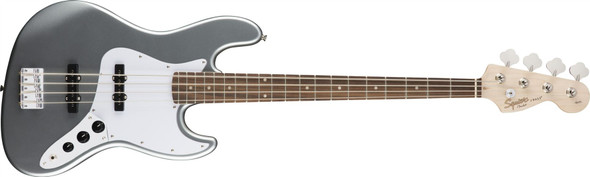 Squier by Fender by Fender Affinity Series Jazz Bass - Laurel Fingerboard - Slick Silver (370760581)