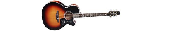 Takamine EF450C-TT-BSB Thermal Top Acoustic-Electric Guitar- Transparent Black Sunburst