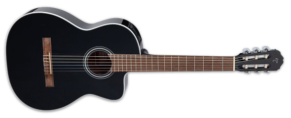 Takamine GC2CE-BLK Spruce Top Mahogany Neck Acoustic / Electric Guitar, Gloss Black