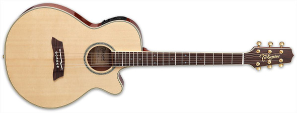 Takamine TSP138C-N Thinline Solid Spruce Top Acoustic Guitar Gloss Natural W/ Case