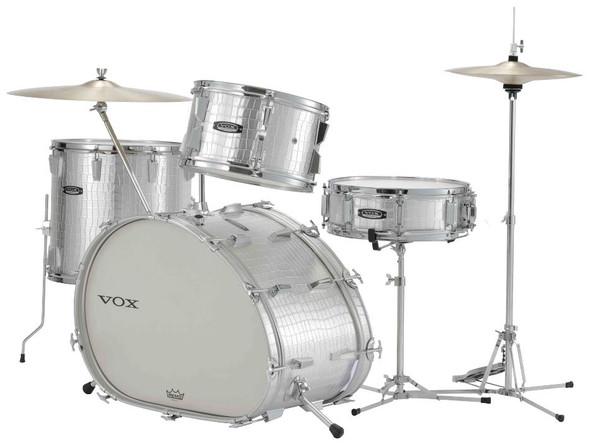 Vox TELSTAR LTD Vox Drum Set, Silver