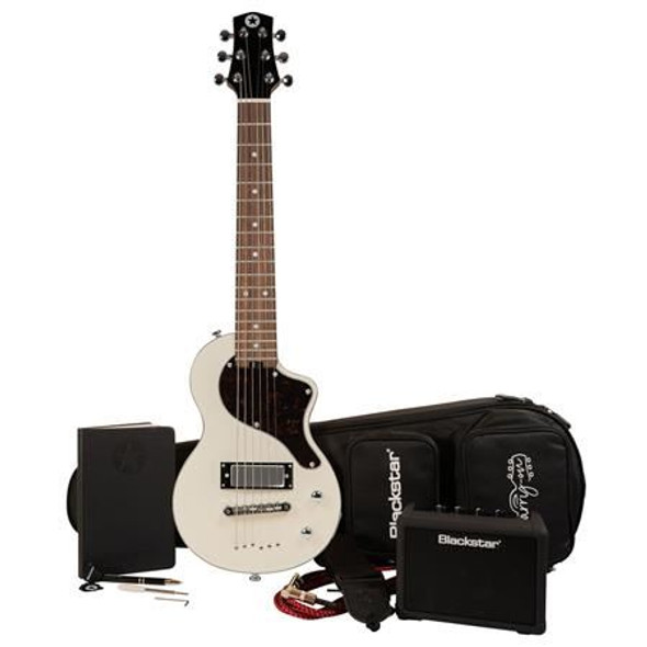 Blackstar Carry-On Deluxe Pack Electric Guitar with FLY 3 Bluetooth Mini Amplifier, Vintage White