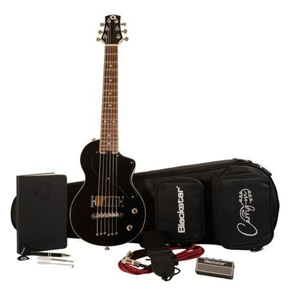 Blackstar Carry-On Standard Pack Electric Guitar with amPlug2 FLY Headphone Amplifier, Jet Black