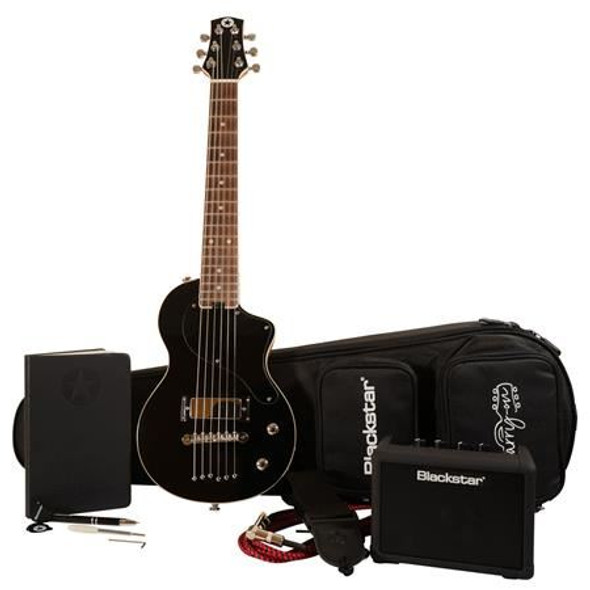 Blackstar Carry-On Deluxe Pack Electric Guitar with FLY 3 Bluetooth Mini Amplifier, Jet Black