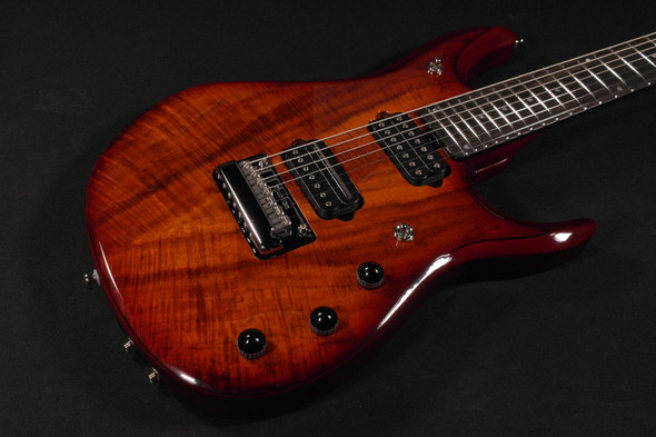 Ernie Ball Music Man John Petrucci 7 JP7 Koa Top Ebony Fingerboard Electric Guitar Koa