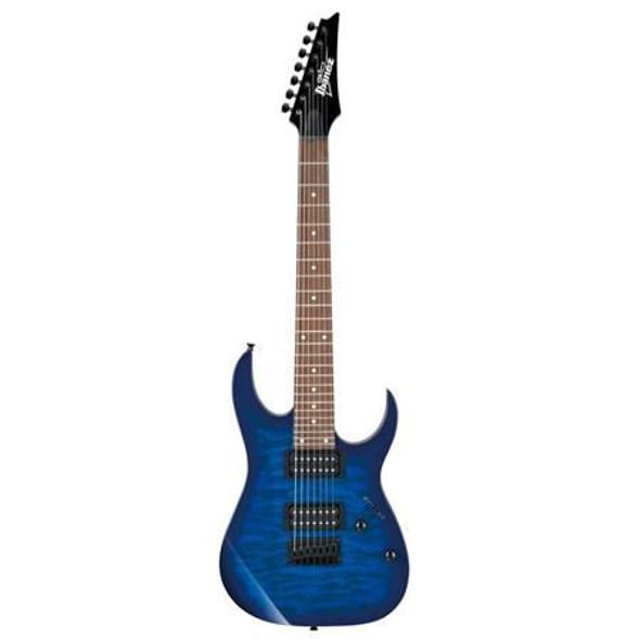Ibanez GRG7221QATBB GIO RG 6str Electric Guitar - Transparent Blue Burst