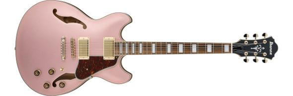 Ibanez AS73GRGF AS Artcore 6str Hollow Body Electric Guitar - Rose Gold Metallic Flat