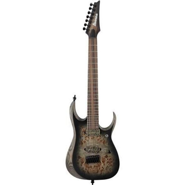 Ibanez RGD71ALPACKF RGD Axion Label 7str Electric Guitar - Charcoal Burst Black Flat
