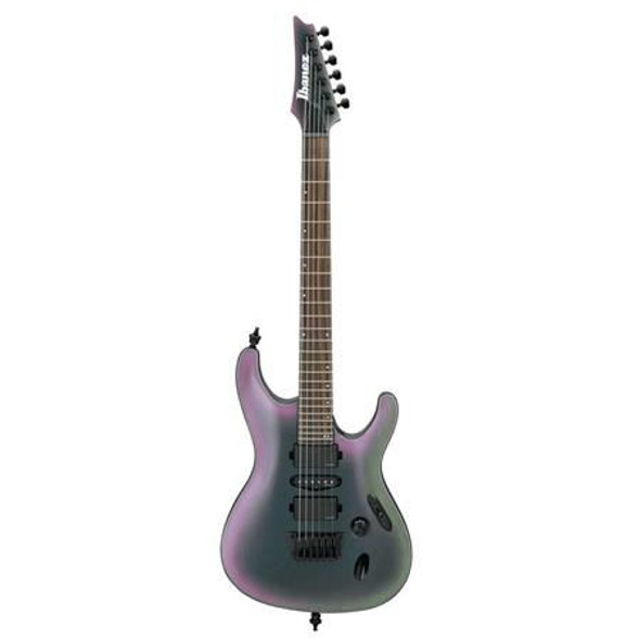 Ibanez S671ALBBAB S Axion Label 6str Electric Guitar - Black Aurora Burst Gloss