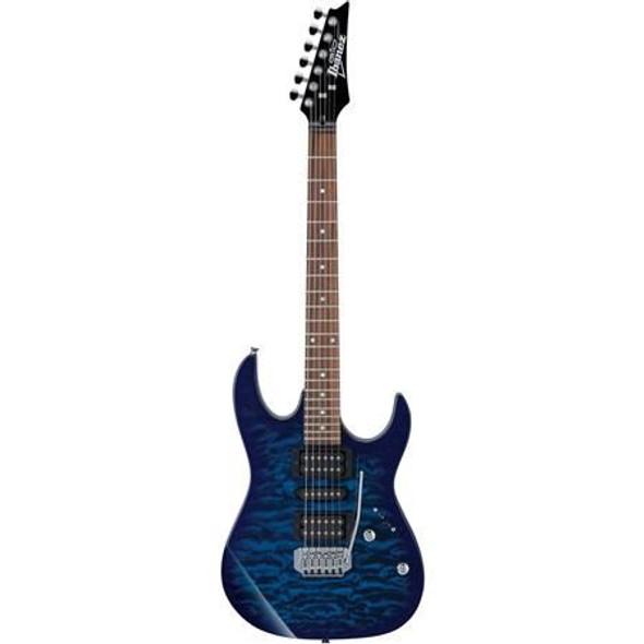 Ibanez GRX70QATBB GIO RX 6str Electric Guitar - Transparent Blue Burst