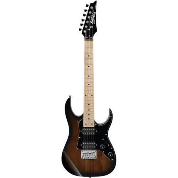 Ibanez GRGM21MWNS GIO RG miKro 6str Electric Guitar - Walnut Sunburst