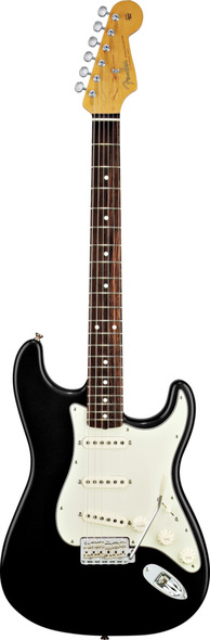 Fender 60'S Stratocaster Black With Gig Electric Guitar 0131000306