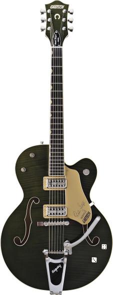 Gretsch G6120SSUGR Brian Setzer Nashville with TV Jones Pickups - Green Tiger Flame (2400109850)