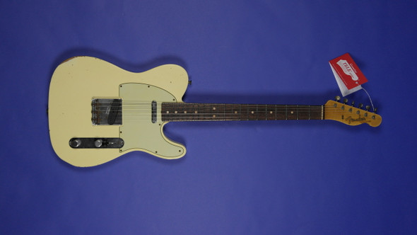 Fender Custom Shop 1963 Custom Telecaster Relic - Faded Vintage White