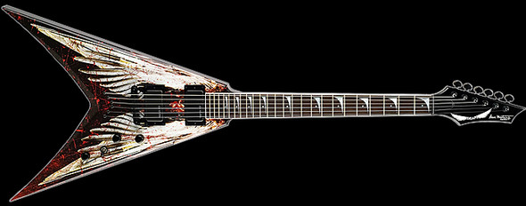 Dean V Dave Mustaine - Angel of Deth w/Case