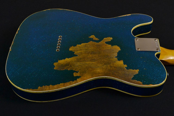 Fender Custom Shop '60 Telecaster Custom Relic – Aged Blue Sparkle 753