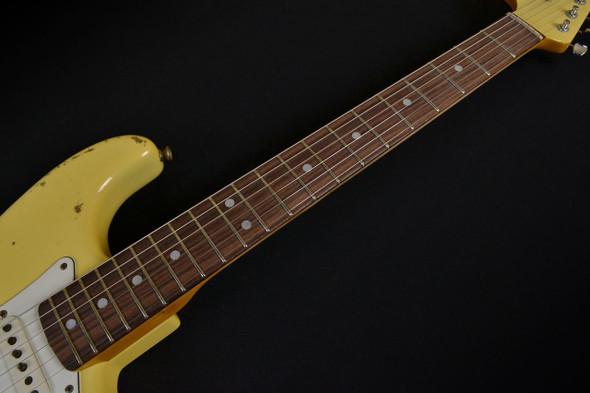 Fender Custom Shop 1969 Stratocaster Reverse Peg Heavy Relic - Aged Vintage White