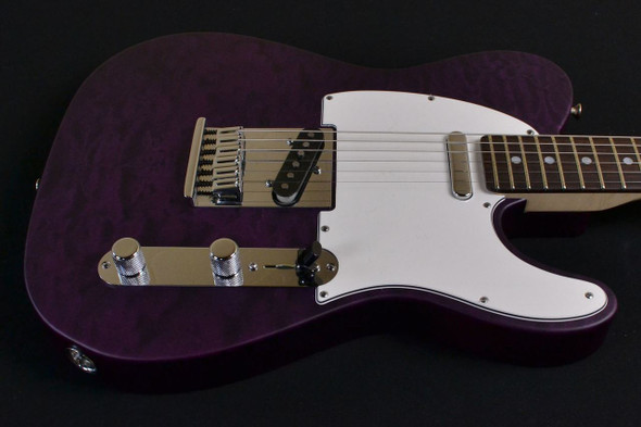 Fender Custom Shop 2014 Custom Deluxe Telecaster - Rosewood Fingerboard - Purple Transparent