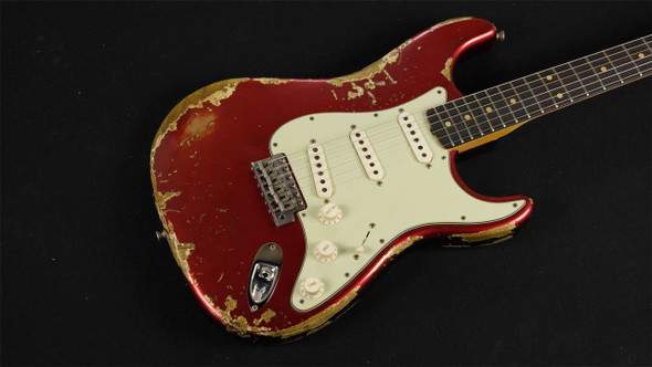 Fender Custom Shop '62 Stratocaster Super Heavy Relic - Aged Candy Apple Red 324
