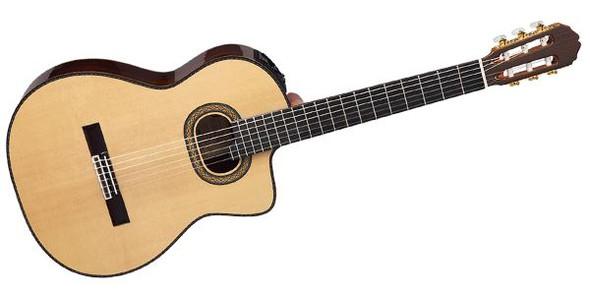 Takamine TH90 - Pro Series Classical Cutaway Body - Natural