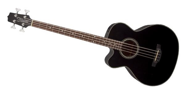 Takamine GB30CELH-BLK 4-String Acoustic-Electric Bass Guitar Left-Handed Acoustic Bass- Black